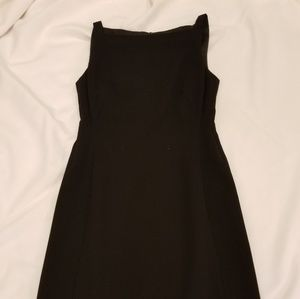 AKRIS Black Square Neck Shift Dress